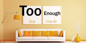 Cách sử dụng Enough và Too - Enmota English Center